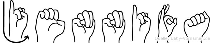 Jennifa im Fingeralphabet der Deutschen Gebärdensprache