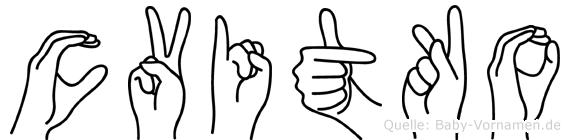 Cvitko im Fingeralphabet der Deutschen Gebärdensprache