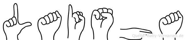 Laisha in Fingersprache für Gehörlose
