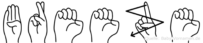 Breeze in Fingersprache für Gehörlose
