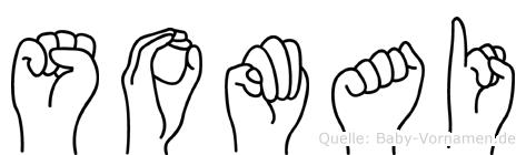 Somai im Fingeralphabet der Deutschen Gebärdensprache