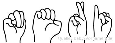 Neri im Fingeralphabet der Deutschen Gebärdensprache