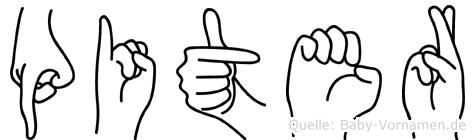Piter in Fingersprache für Gehörlose
