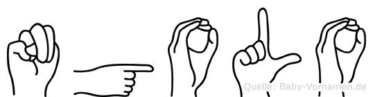 Ngolo in Fingersprache für Gehörlose