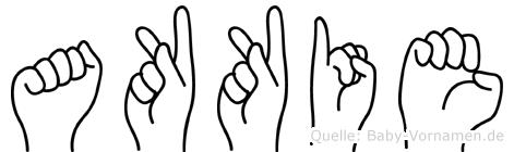 Akkie im Fingeralphabet der Deutschen Gebärdensprache