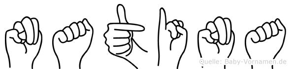 Natina in Fingersprache für Gehörlose