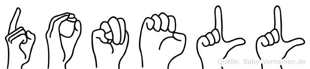 Donell im Fingeralphabet der Deutschen Gebärdensprache