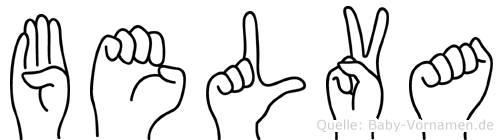 Belva im Fingeralphabet der Deutschen Gebärdensprache