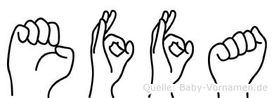 Effa in Fingersprache für Gehörlose