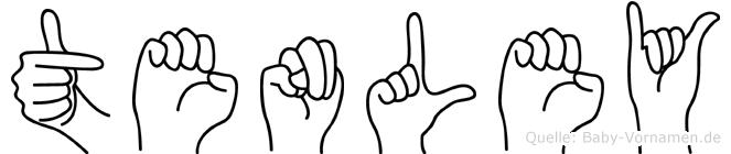 Tenley im Fingeralphabet der Deutschen Gebärdensprache