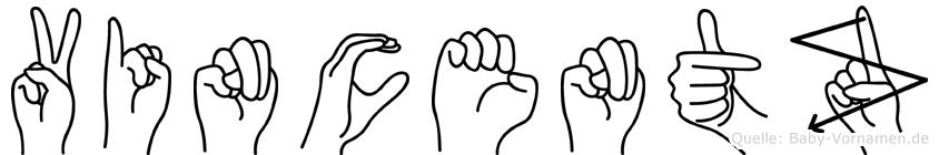 Vincentz in Fingersprache für Gehörlose