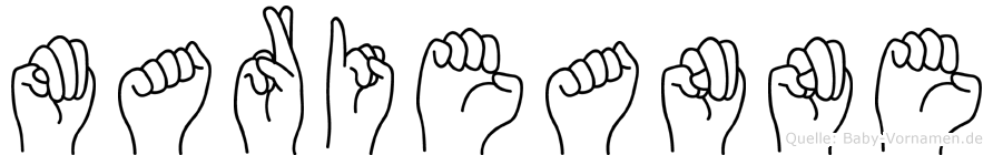 Marieanne im Fingeralphabet der Deutschen Gebärdensprache