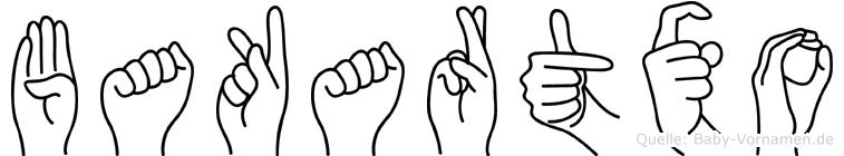 Bakartxo in Fingersprache für Gehörlose