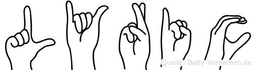 Lyric im Fingeralphabet der Deutschen Gebärdensprache