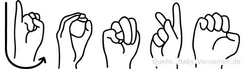 Jonke in Fingersprache für Gehörlose