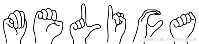 Melica in Fingersprache für Gehörlose