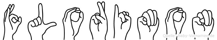 Florimon im Fingeralphabet der Deutschen Gebärdensprache