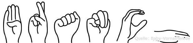 Branch in Fingersprache für Gehörlose