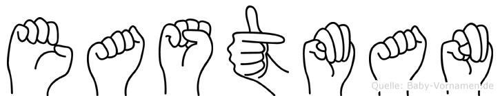 Eastman in Fingersprache für Gehörlose