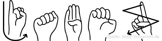 Jabez in Fingersprache für Gehörlose