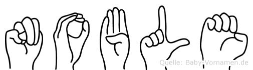 Noble im Fingeralphabet der Deutschen Gebärdensprache