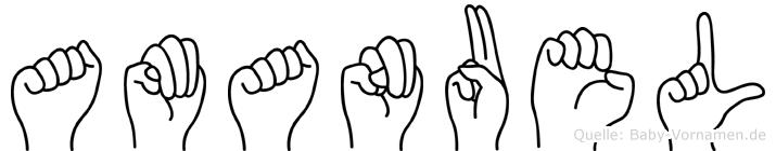 Amanuel in Fingersprache für Gehörlose