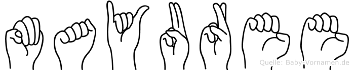 Mayuree in Fingersprache für Gehörlose