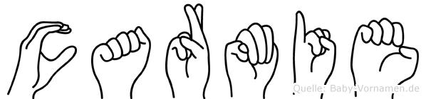 Carmie in Fingersprache für Gehörlose