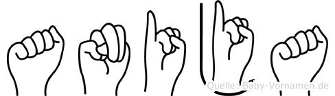 Anija in Fingersprache für Gehörlose