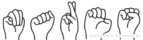 Mares im Fingeralphabet der Deutschen Gebärdensprache