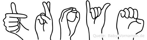 Troye in Fingersprache für Gehörlose