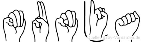 Munja in Fingersprache für Gehörlose