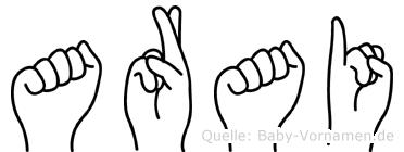 Arai in Fingersprache für Gehörlose