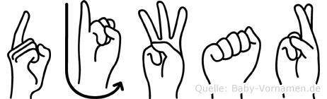 Djwar in Fingersprache für Gehörlose