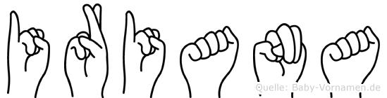 Iriana in Fingersprache für Gehörlose