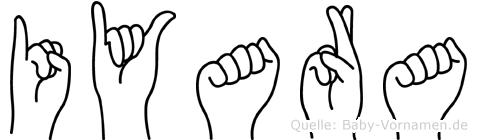 Iyara im Fingeralphabet der Deutschen Gebärdensprache