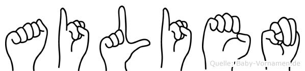 Ailien in Fingersprache für Gehörlose