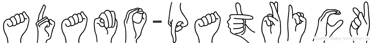 Adamo-Patrick im Fingeralphabet der Deutschen Gebärdensprache
