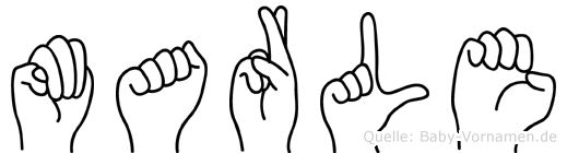 Marle im Fingeralphabet der Deutschen Gebärdensprache