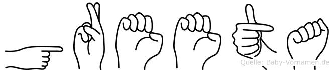 Greeta in Fingersprache für Gehörlose