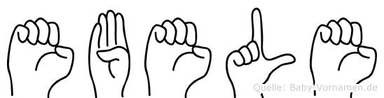 Ebele im Fingeralphabet der Deutschen Gebärdensprache