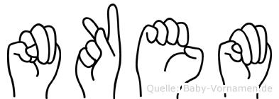 Nkem in Fingersprache für Gehörlose