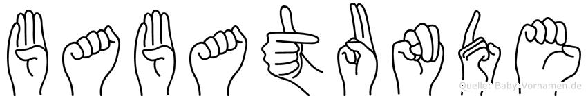 Babatunde in Fingersprache für Gehörlose