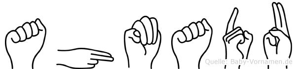 Ahmadu in Fingersprache für Gehörlose