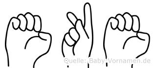 Eke in Fingersprache für Gehörlose