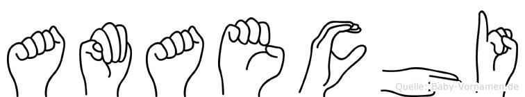 Amaechi in Fingersprache für Gehörlose