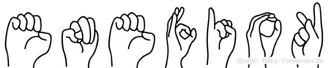 Enefiok in Fingersprache für Gehörlose
