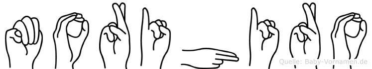 Morihiro im Fingeralphabet der Deutschen Gebärdensprache