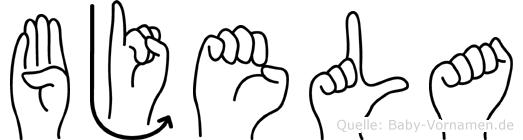 Bjela in Fingersprache für Gehörlose
