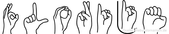 Florije im Fingeralphabet der Deutschen Gebärdensprache